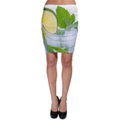 Cold Drink Lime Drink Cocktail Bodycon Skirt