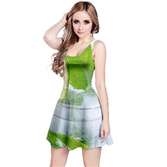 Cold Drink Lime Drink Cocktail Reversible Sleeveless Dress