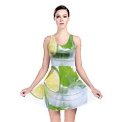 Cold Drink Lime Drink Cocktail Reversible Skater Dress