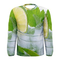 Cold Drink Lime Drink Cocktail Men s Long Sleeve Tee