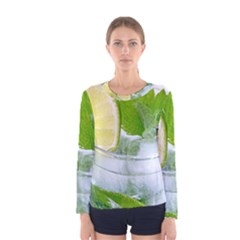 Cold Drink Lime Drink Cocktail Women s Long Sleeve Tee