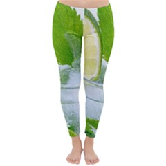 Cold Drink Lime Drink Cocktail Classic Winter Leggings