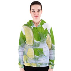 Cold Drink Lime Drink Cocktail Women s Zipper Hoodie