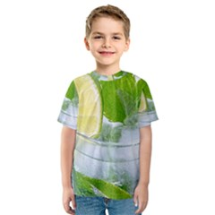 Cold Drink Lime Drink Cocktail Kids  Sport Mesh Tee