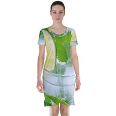 Cold Drink Lime Drink Cocktail Short Sleeve Nightdress