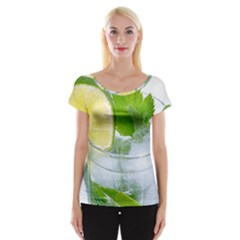 Cold Drink Lime Drink Cocktail Women s Cap Sleeve Top