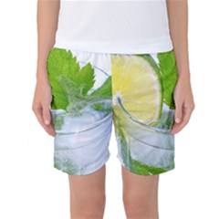 Cold Drink Lime Drink Cocktail Women s Basketball Shorts