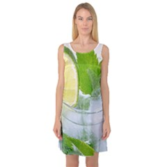 Cold Drink Lime Drink Cocktail Sleeveless Satin Nightdress