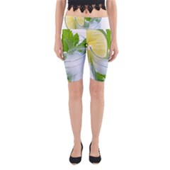 Cold Drink Lime Drink Cocktail Yoga Cropped Leggings