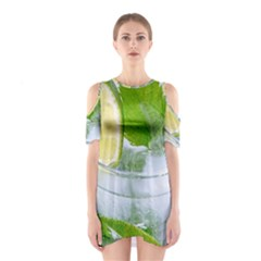 Cold Drink Lime Drink Cocktail Shoulder Cutout One Piece