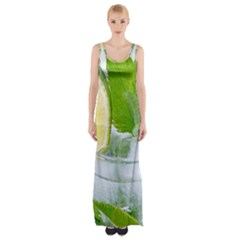 Cold Drink Lime Drink Cocktail Maxi Thigh Split Dress