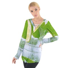 Cold Drink Lime Drink Cocktail Women s Tie Up Tee