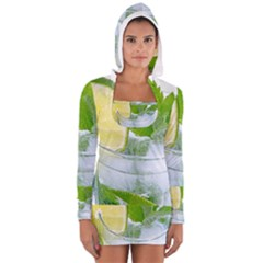 Cold Drink Lime Drink Cocktail Women s Long Sleeve Hooded T Shirt