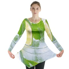 Cold Drink Lime Drink Cocktail Long Sleeve Tunic