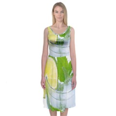 Cold Drink Lime Drink Cocktail Midi Sleeveless Dress