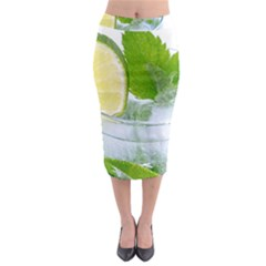 Cold Drink Lime Drink Cocktail Midi Pencil Skirt
