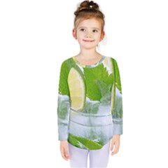Cold Drink Lime Drink Cocktail Kids  Long Sleeve Tee