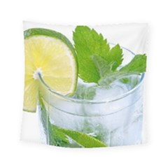 Cold Drink Lime Drink Cocktail Square Tapestry (small)