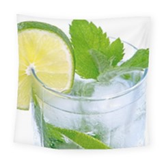 Cold Drink Lime Drink Cocktail Square Tapestry (large)