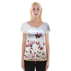 Flowers Plants Korea Nature Women s Cap Sleeve Top