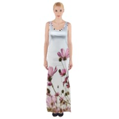 Flowers Plants Korea Nature Maxi Thigh Split Dress