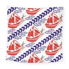Sailing Boat Square Tapestry (large)