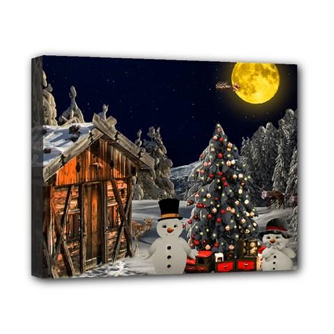 Christmas Landscape Canvas 10  X 8
