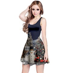 Christmas Landscape Reversible Sleeveless Dress