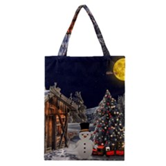 Christmas Landscape Classic Tote Bag