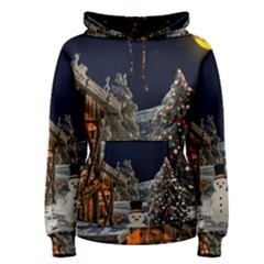Christmas Landscape Women s Pullover Hoodie