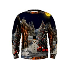 Christmas Landscape Kids  Sweatshirt