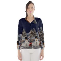 Christmas Landscape Wind Breaker (women)