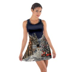 Christmas Landscape Cotton Racerback Dress