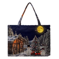Christmas Landscape Medium Tote Bag