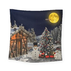 Christmas Landscape Square Tapestry (small)