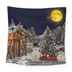 Christmas Landscape Square Tapestry (large)