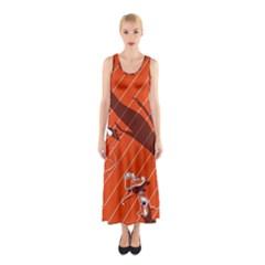 Shadow Sleeveless Maxi Dress