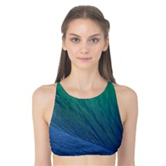Sea Wave Water Blue Tank Bikini Top
