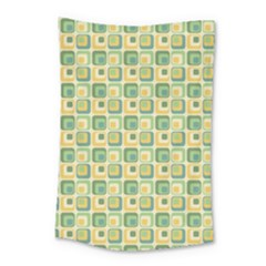 Square Green Yellow Small Tapestry