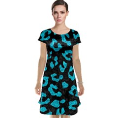 Skin5 Black Marble & Turquoise Marble (r) Cap Sleeve Nightdress