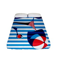 Sunbathing On The Beach Fitted Sheet (full/ Double Size)