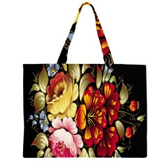 Ultra Texture Flowers Large Tote Bag