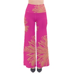 Yellow Flowers On Pink Background Pink Pants