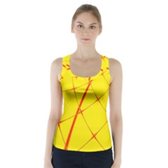 Yellow Redmesh Racer Back Sports Top