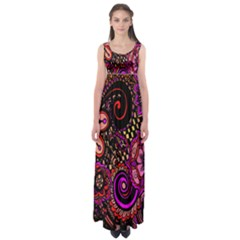Sunset Floral  Flower Purple Empire Waist Maxi Dress