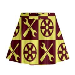 Engineering Mini Flare Skirt