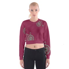 Rose Pink Fushia Women s Cropped Sweatshirt