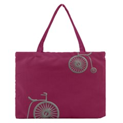 Rose Pink Fushia Medium Zipper Tote Bag