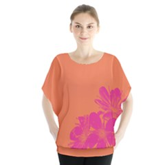 Flower Orange Pink Blouse