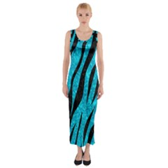 SKN3 BK-TQ MARBLE (R) Fitted Maxi Dress